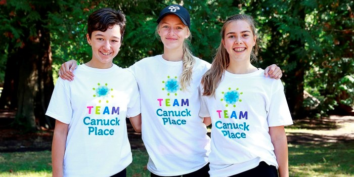 Team Canuck Place volunteers
