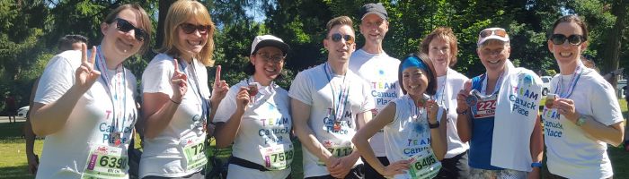 Team Canuck Place fundraisers