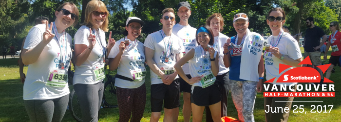 Team Canuck Place at the Vancouver Scotiabank Half-Marathon